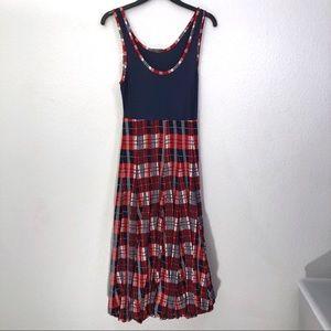 MCQ Alexander McQueen Plaid Textured Bubble Dress